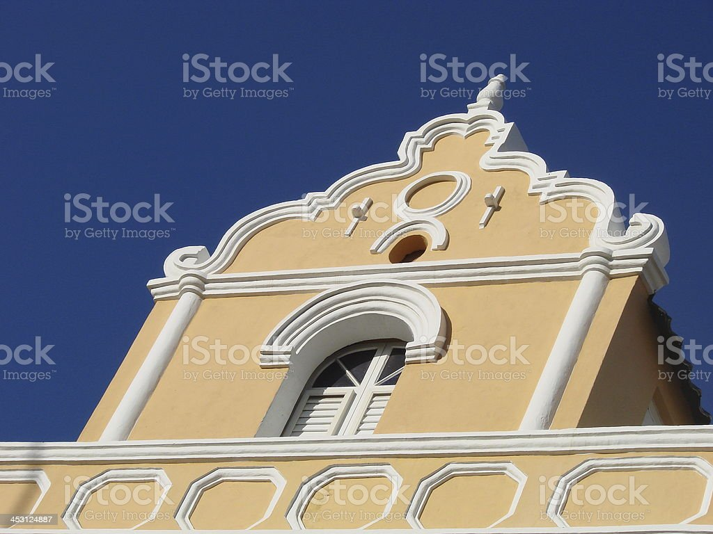 Willemstad architecture, Curaçao stock photo