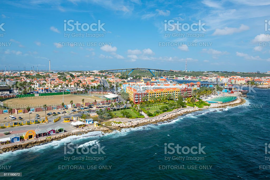 Willemstad, Curacao cityscape stock photo