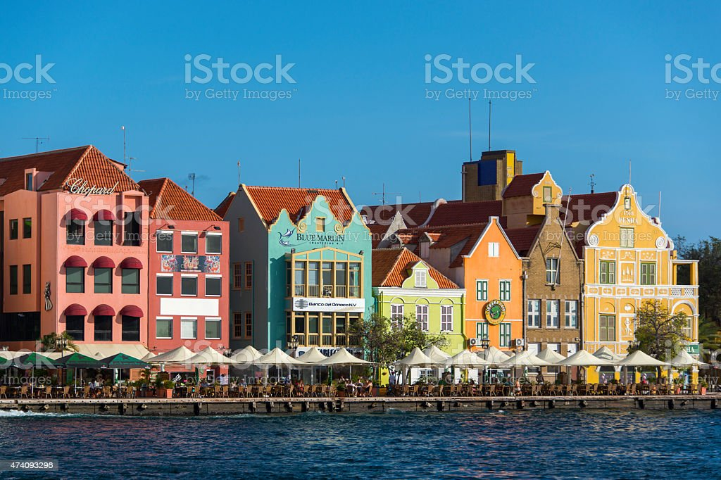 Willemstad historic center stock photo