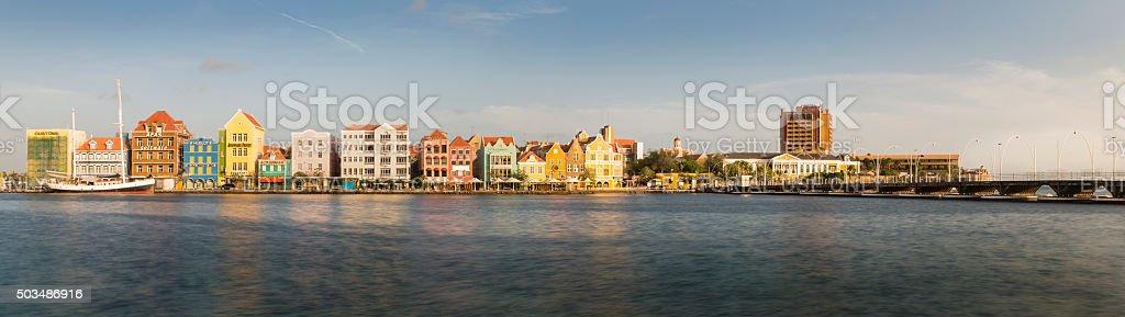 Willemstad Punda skyline panorama royalty-free stock photo