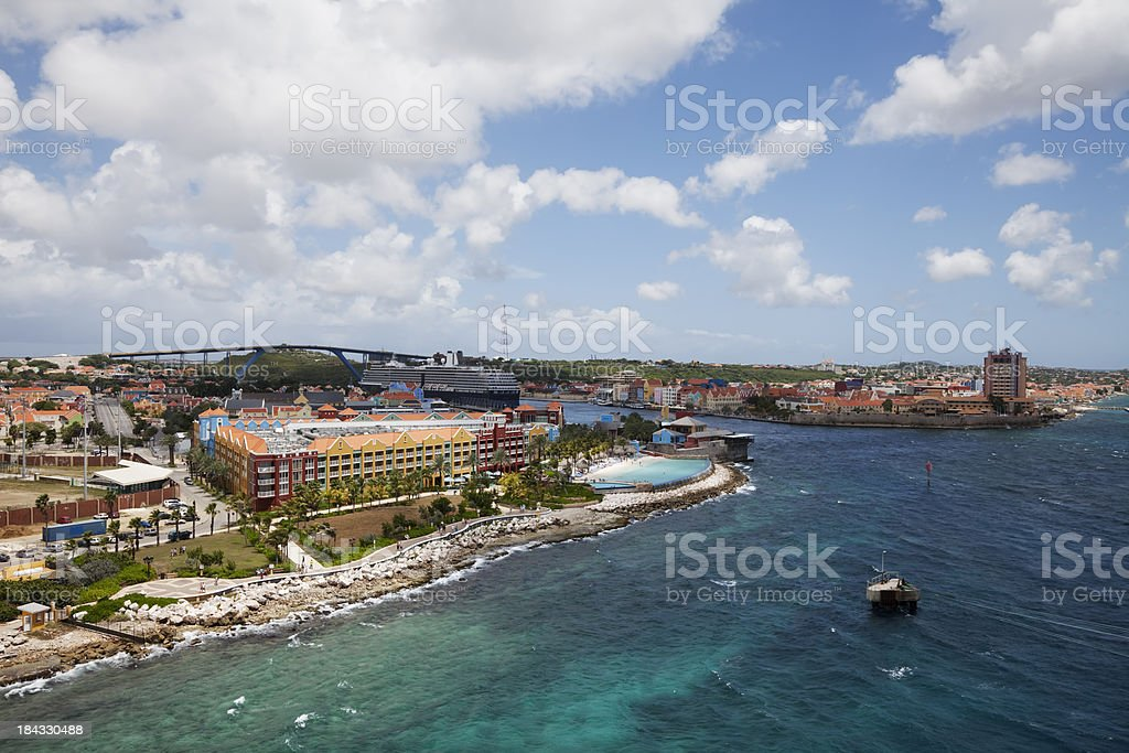 Willemstad skyline, Curacao stock photo