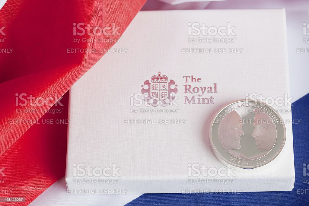 William And Catherine Commemorative Coin stock photo