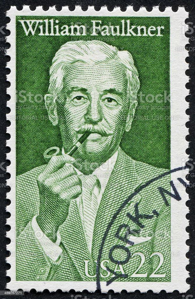 William Faulkner Stamp stock photo