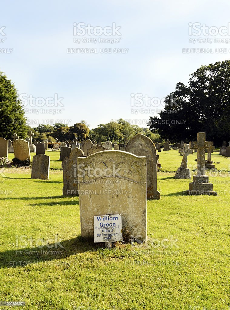 William Green, customs officer - Killed by smugglers royalty-free stock photo