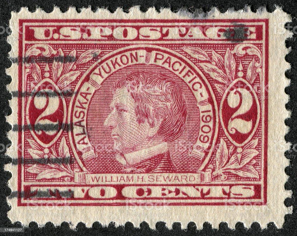 William H. Seward Stamp royalty-free stock photo