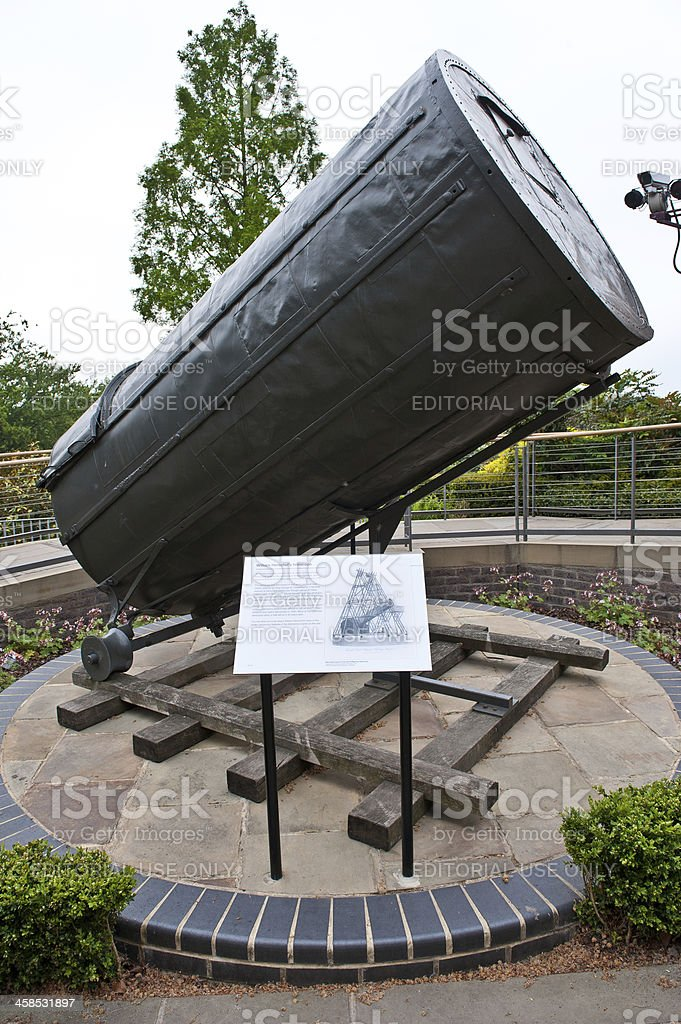 William Herschel Telescope at The Royal Observatory stock photo