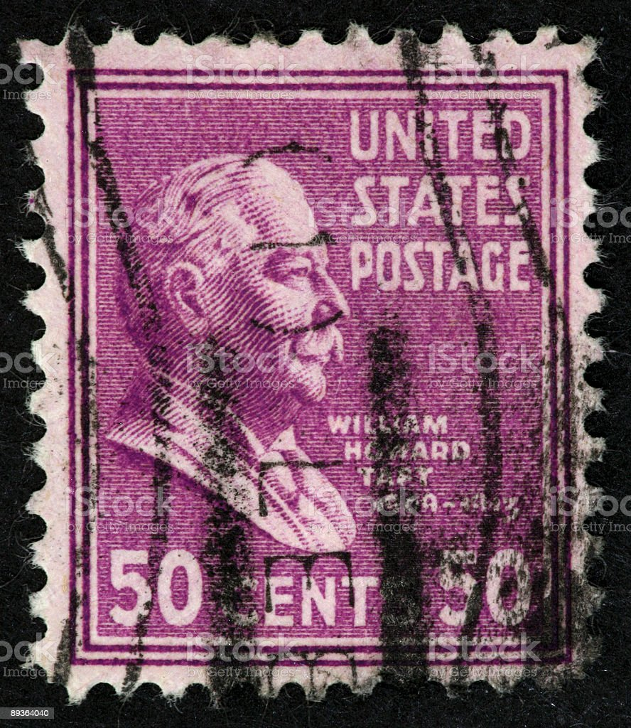 William Howard Taft stamp stock photo