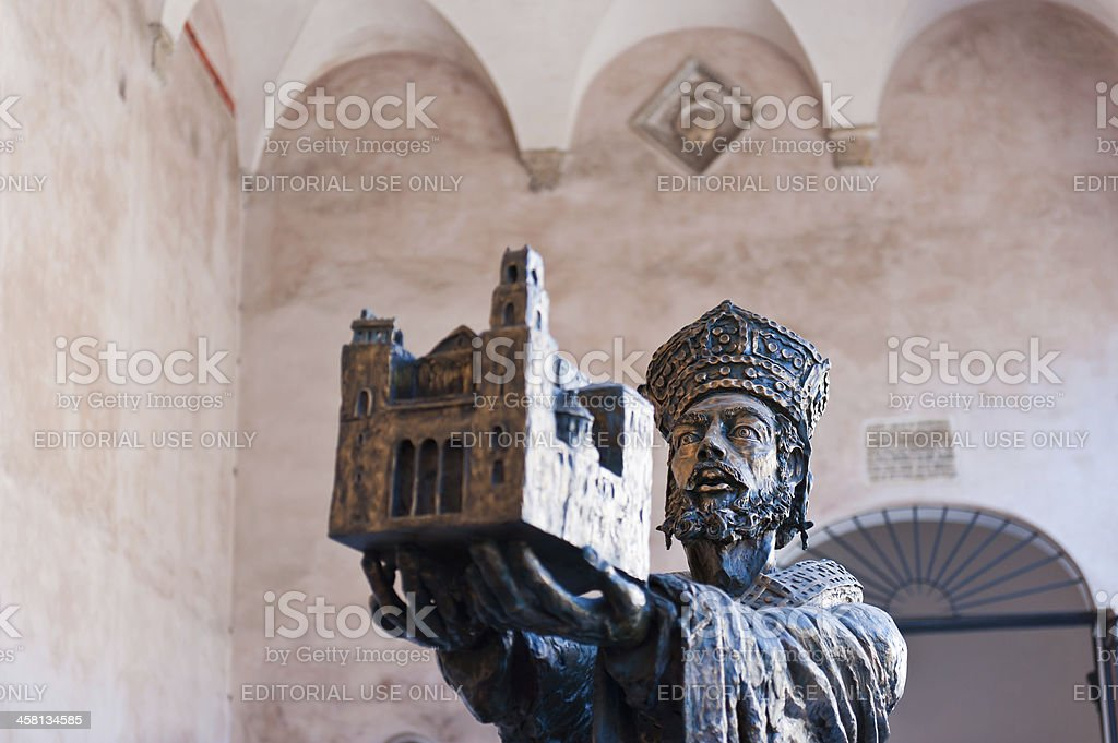 William II - founder of Monreale Cathedral stock photo