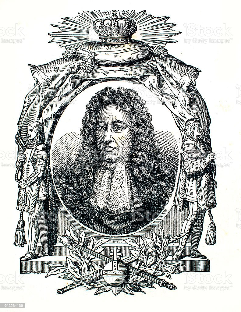 William III king of the Netherlands stock photo