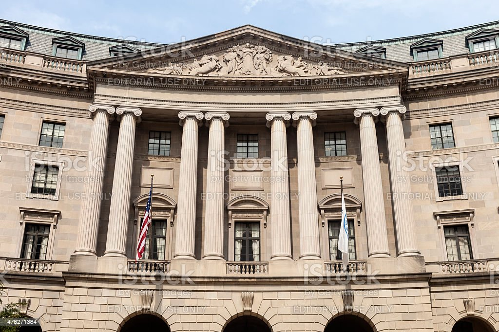 William Jefferson Clinton Federal Building In Washington DC stock photo