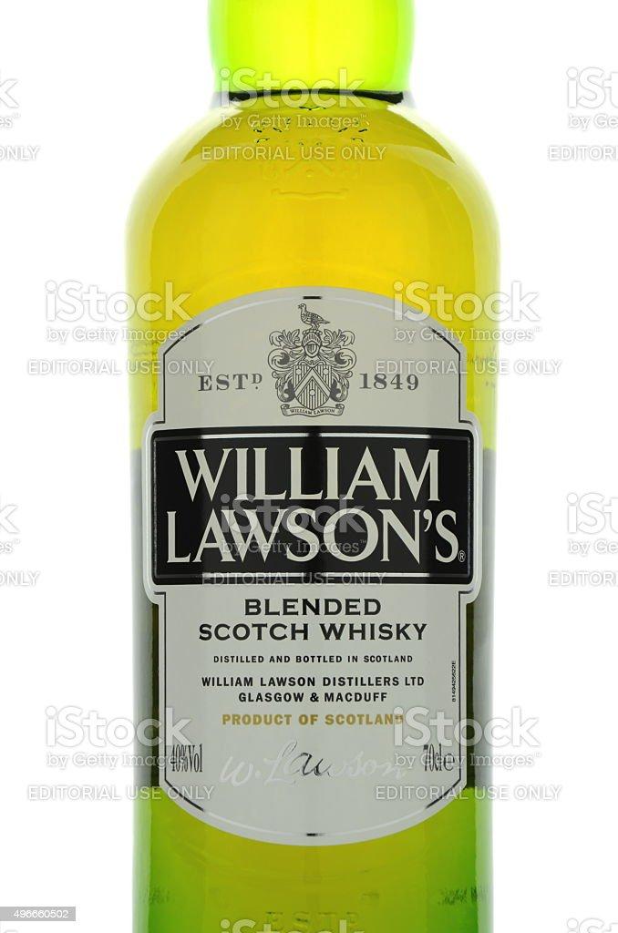 William Lawsons whisky isolated on white background stock photo