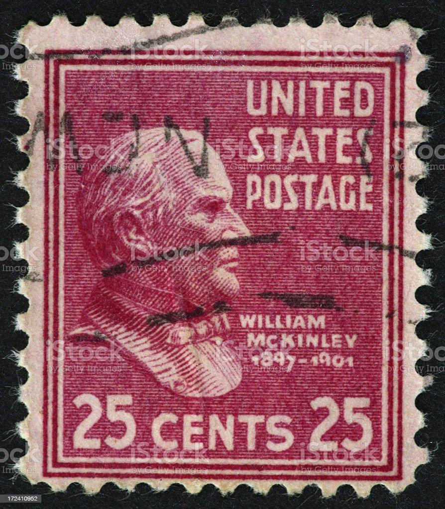 William McKinley stamp royalty-free stock photo