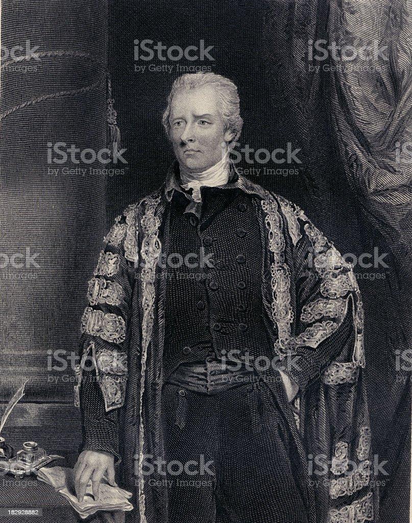 William Pitt the younger (XXXL) stock photo