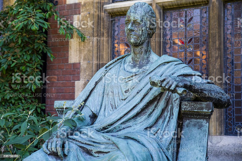 William Pitt The Younger Statue in Cambridge stock photo
