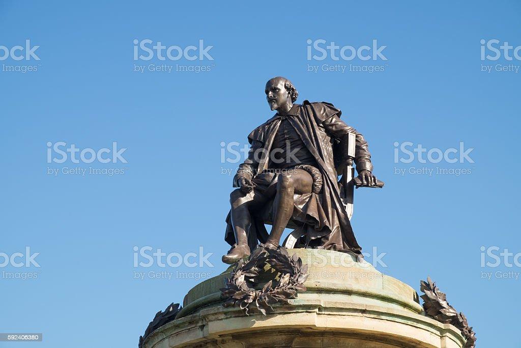 William Shakespeare memorial stock photo