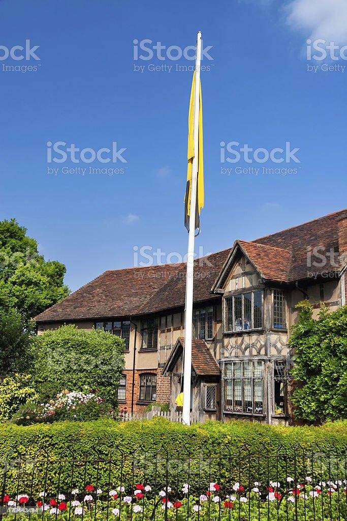 William Shakespeare's birthplace in Strartford upon Avon, Warwickshire, UK stock photo