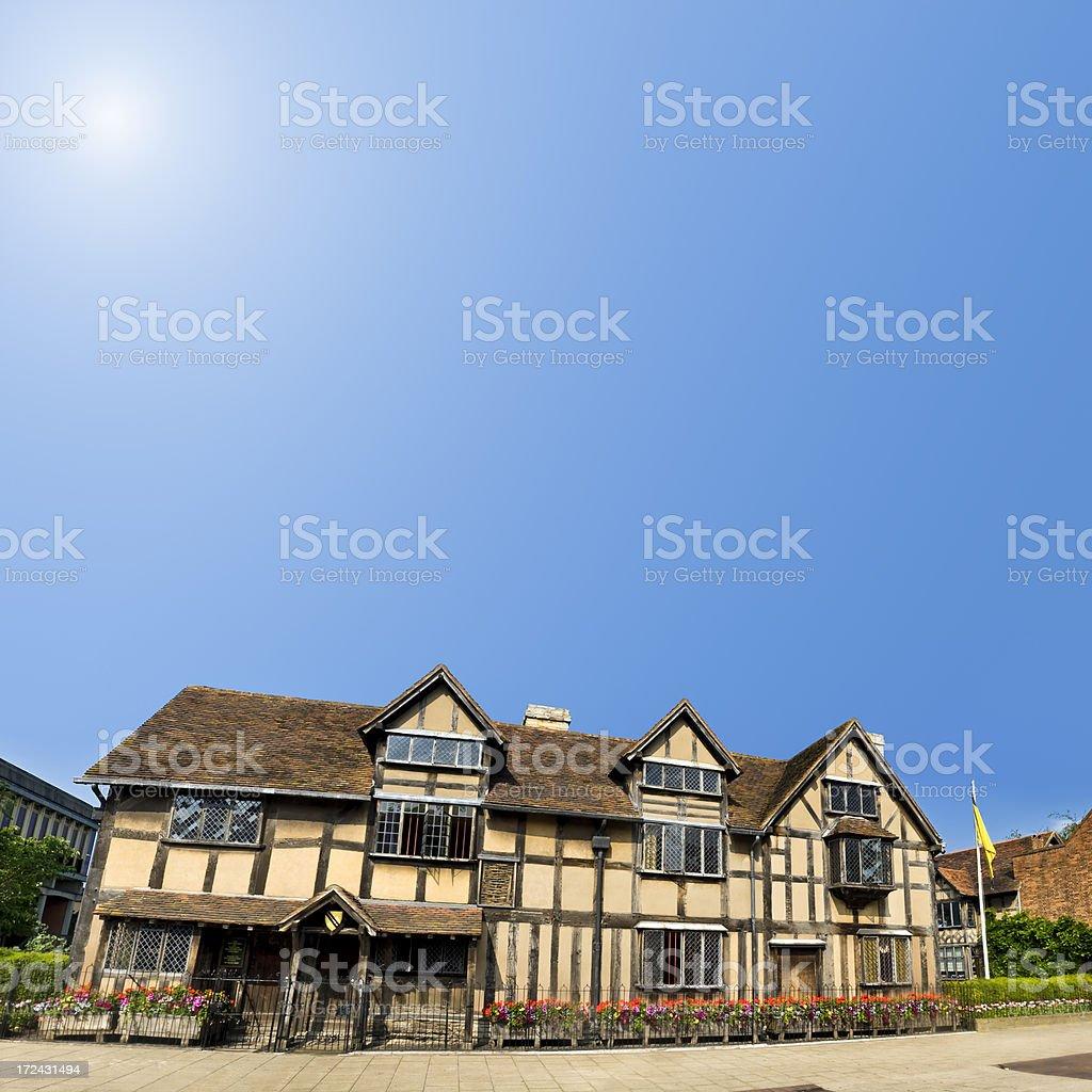 William Shakespeare's birthplace in Stratford-Upon-Avon, England, UK stock photo