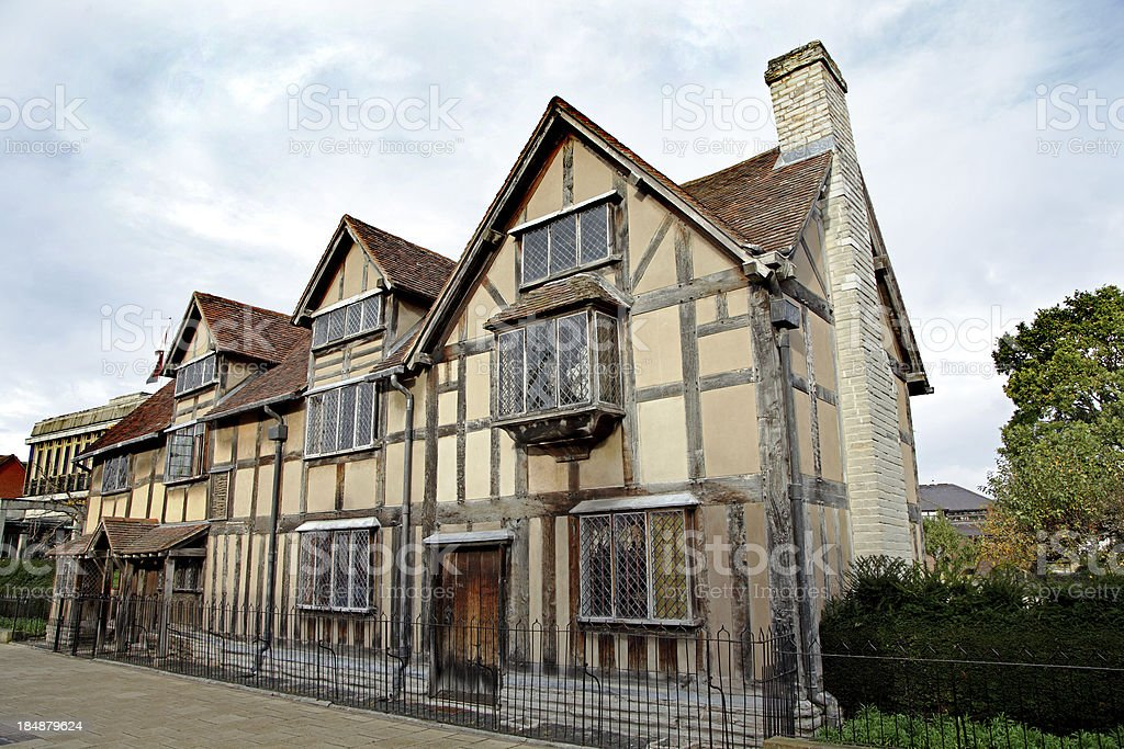 William Shakespeare's Cottage royalty-free stock photo
