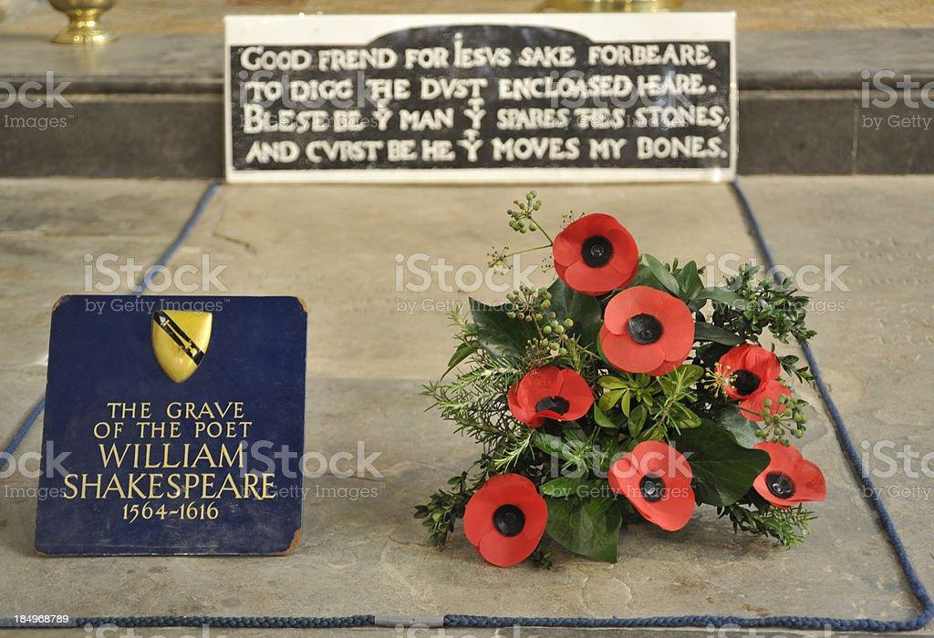 William Shakespeare's grave stock photo