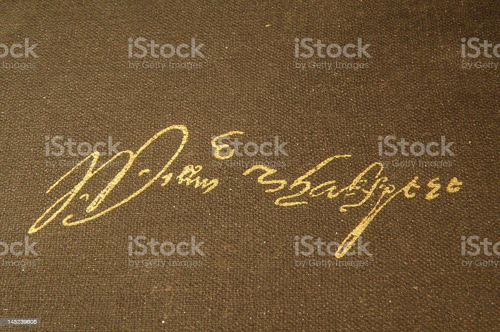 William Shakespeare's signature stock photo