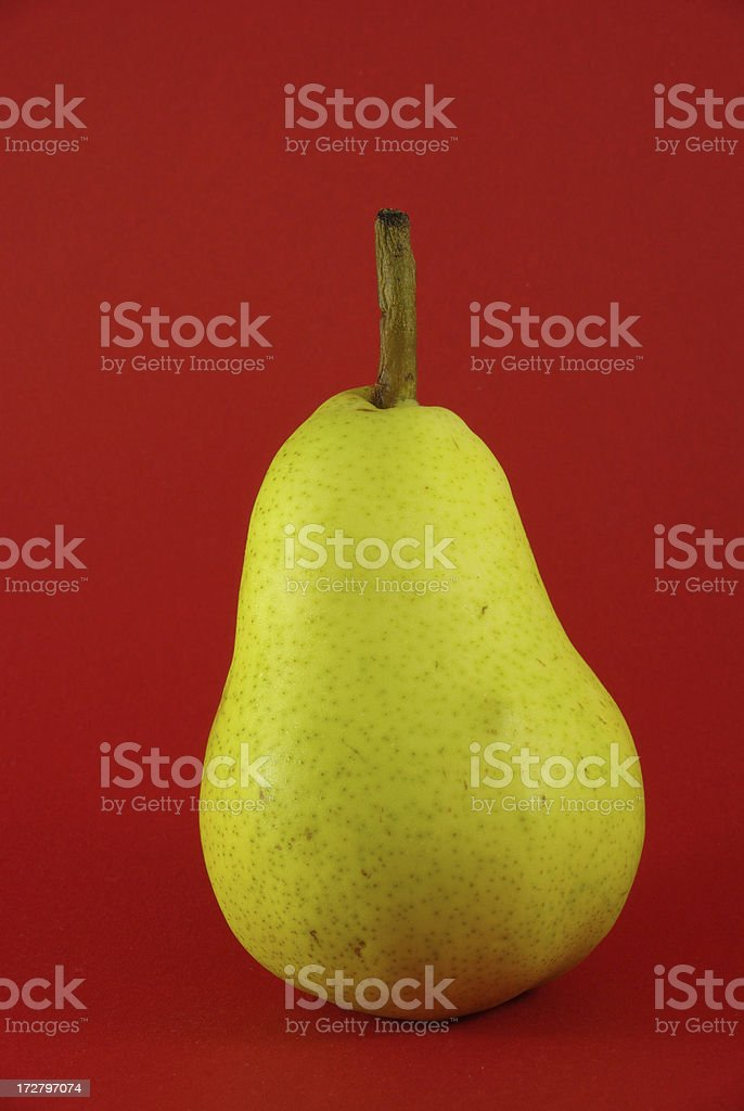 Williams Pear on Red Background stock photo