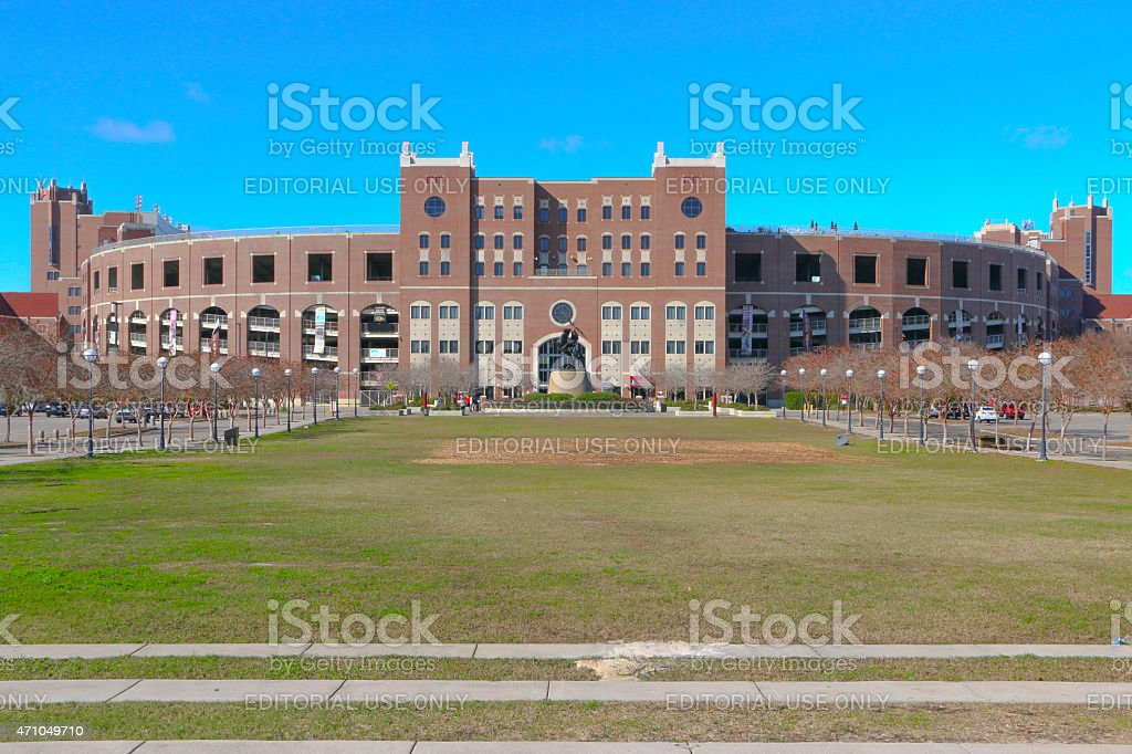 Williams Plaza at Langford Green outside of Dock Campbell Stadium. stock photo