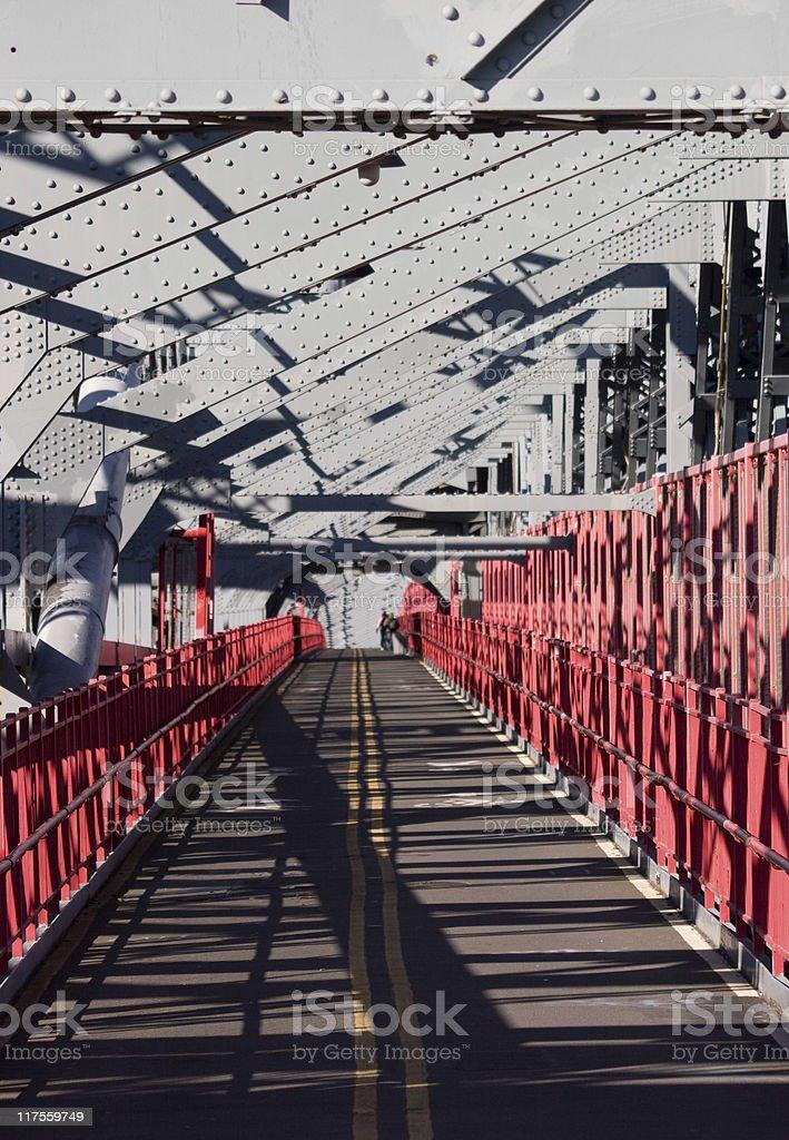 Williamsburg Bridge between Manhattan and Brooklyn in New York royalty-free stock photo