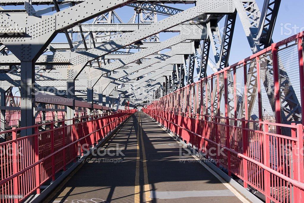 Williamsburg Bridge between Manhattan and Brooklyn in New York stock photo