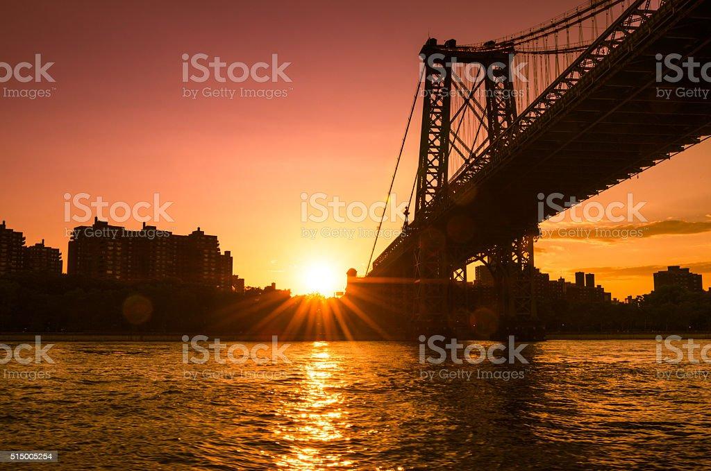 Williamsburg Bridge in Manhattan stock photo
