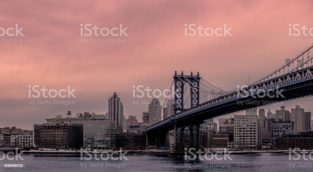 Williamsburg Bridge in New York stock photo