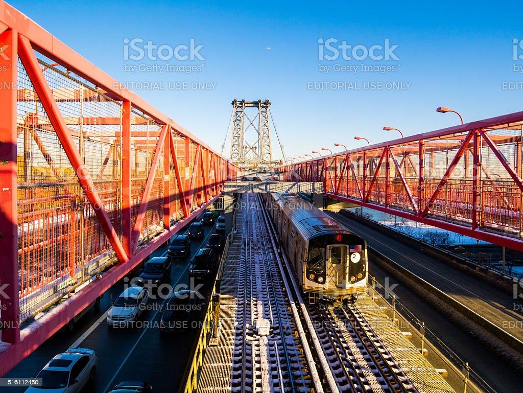 Williamsburg Bridge in New York, USA stock photo