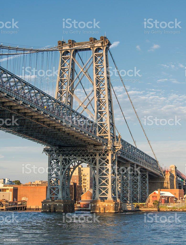 Williamsburg Bridge New York City stock photo