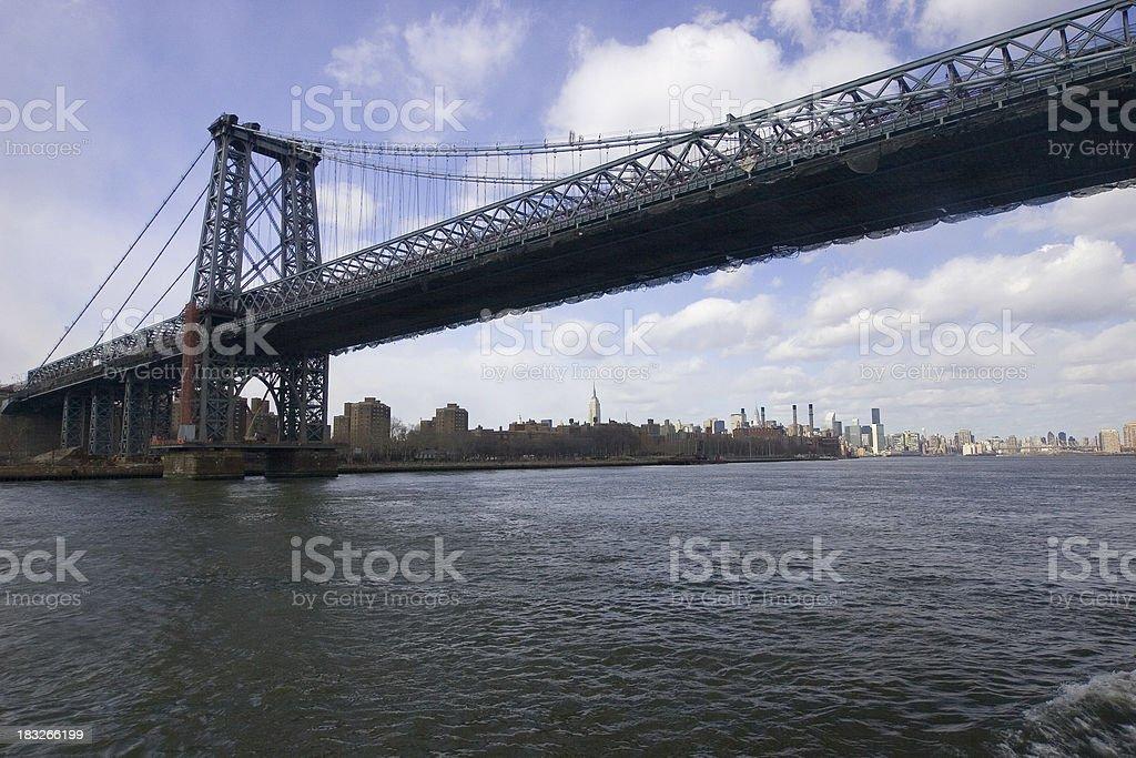 Williamsburg Bridge, New York stock photo
