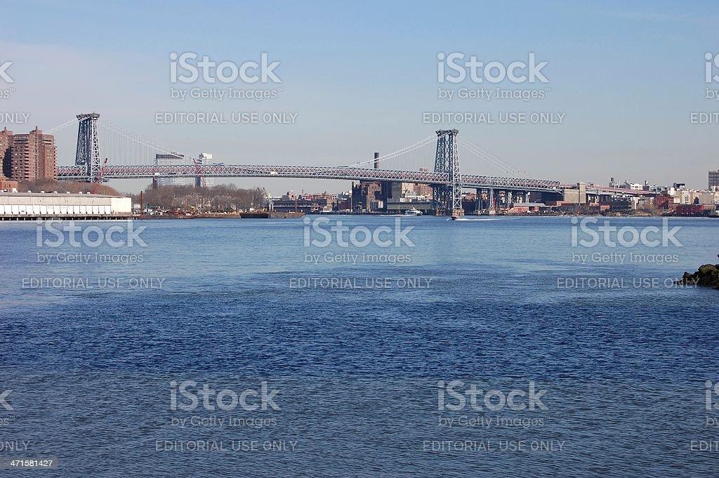 Williamsburg bridge, New York royalty-free stock photo