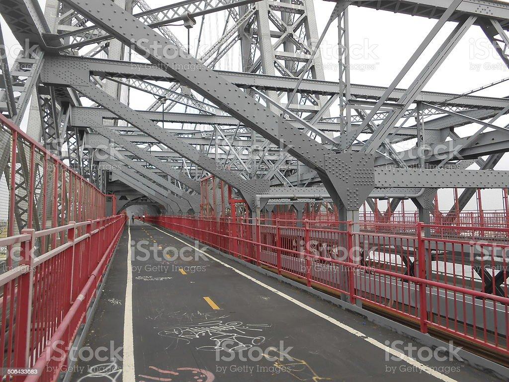 Williamsburg Bridge, New York. stock photo