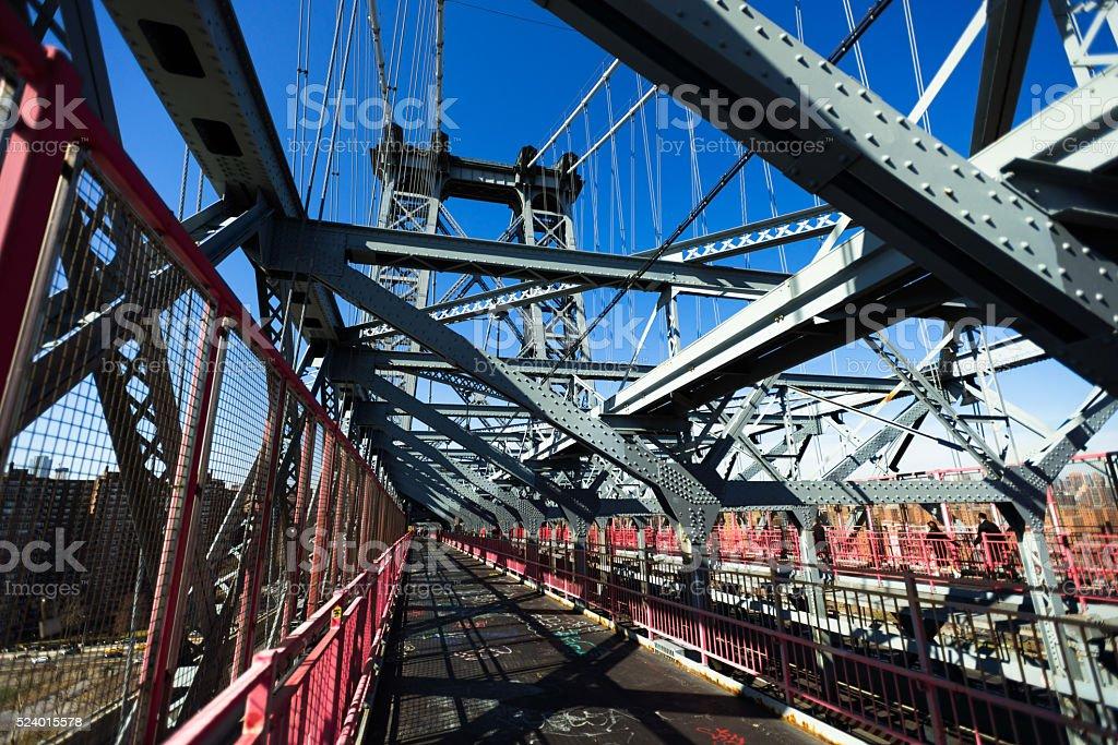 Williamsburg Bridge Trusses New York stock photo