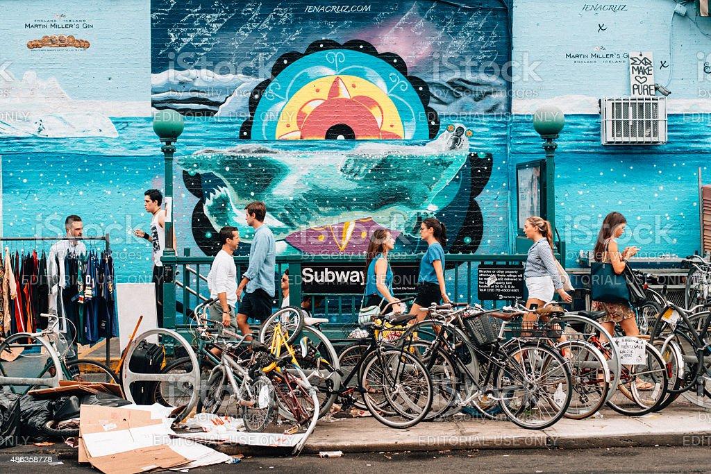 Williamsburg Brooklyn New York stock photo