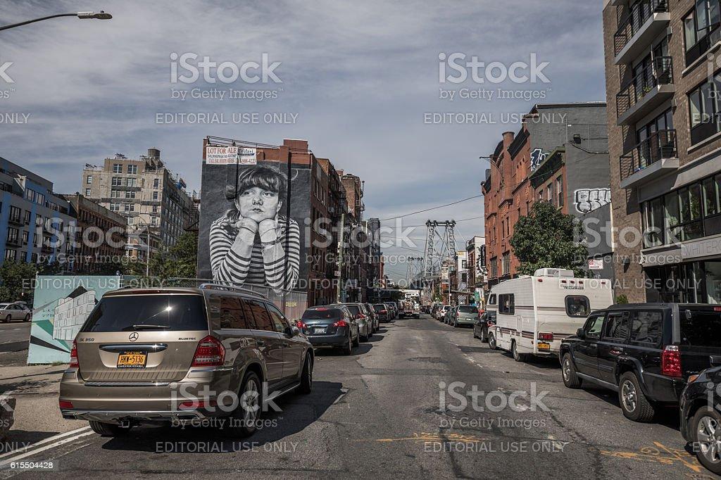Williamsburg, Brroklyn in New York City, United States stock photo