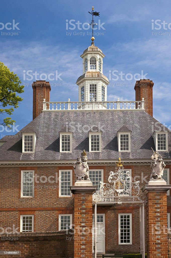 Williamsburg Governor's Palace stock photo