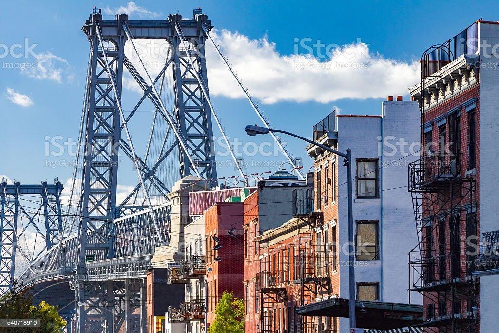 Williamsburg street scene in Brooklyn, New York City stock photo