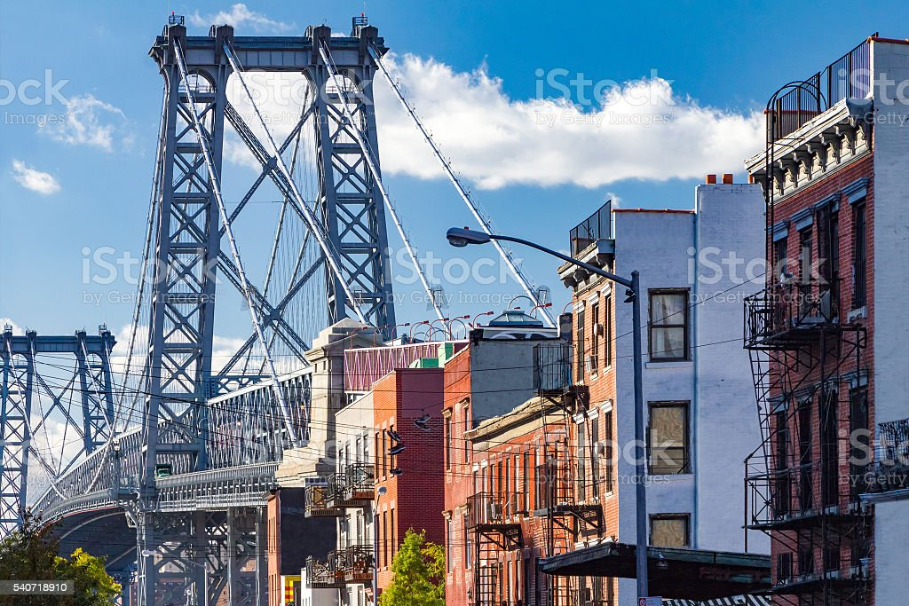 Williamsburg street scene in Brooklyn, New York City stock photo
