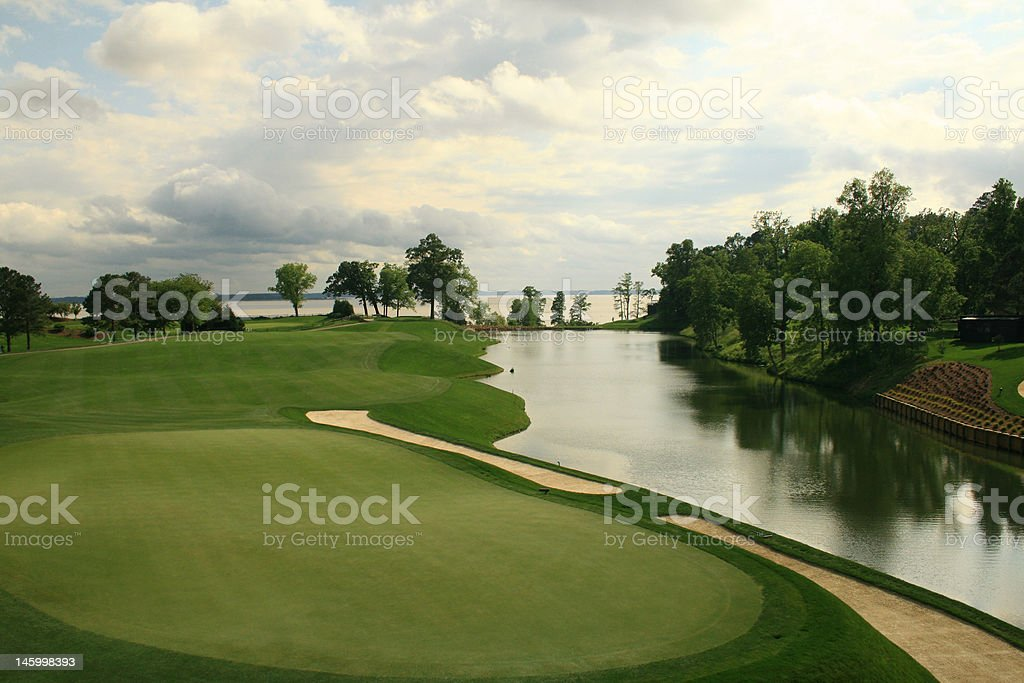 Williamsburg Virginia Golf near James River stock photo