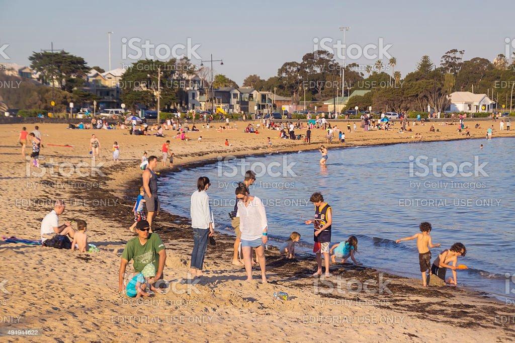 Williamstown Beach, Melbourne stock photo