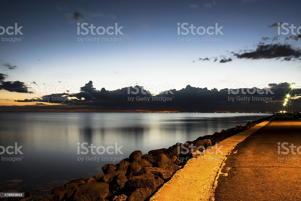 Williamstown Rocky Shore stock photo
