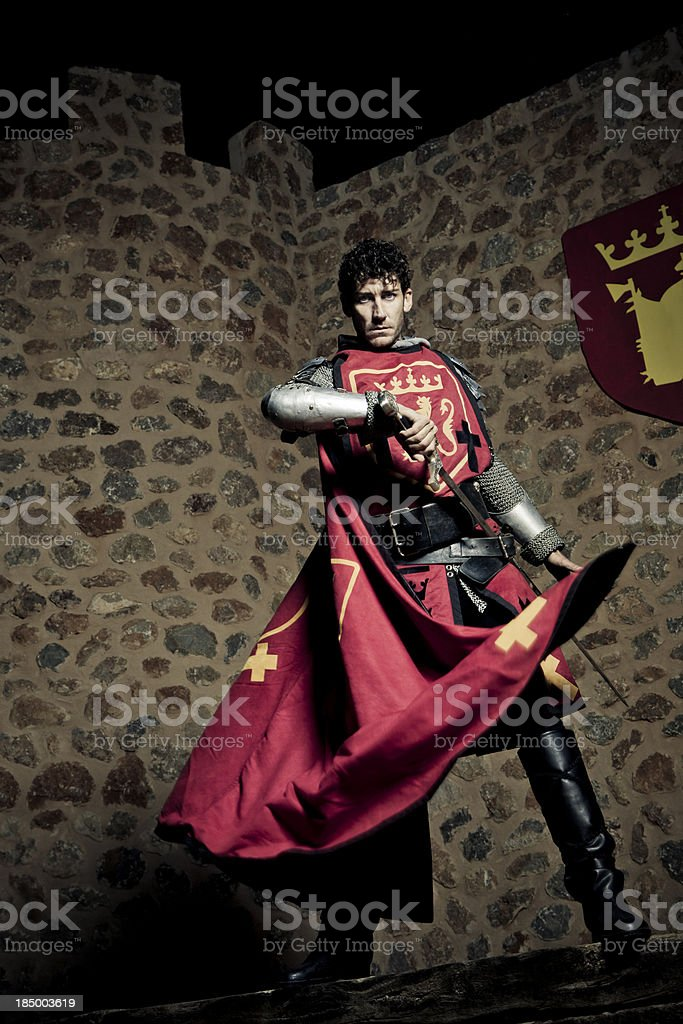 willing knight royalty-free stock photo