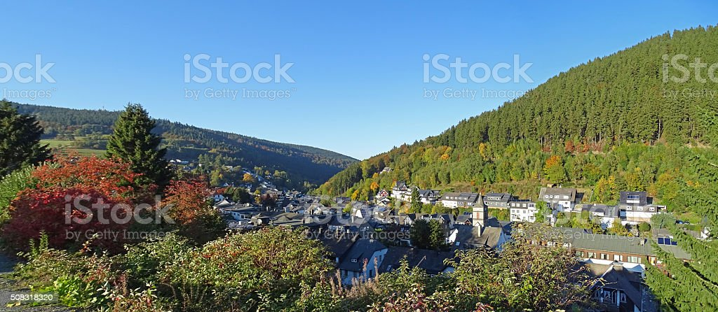 Willingen in the Sauerland region in Germany stock photo