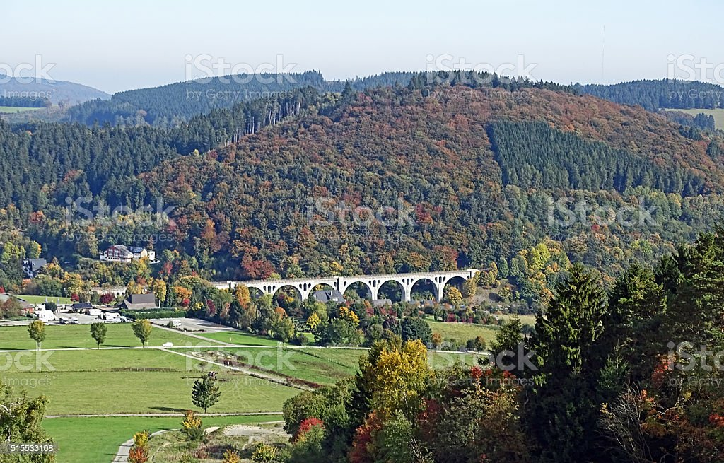 Willingen Viaduct (Sauerland / Germany) stock photo