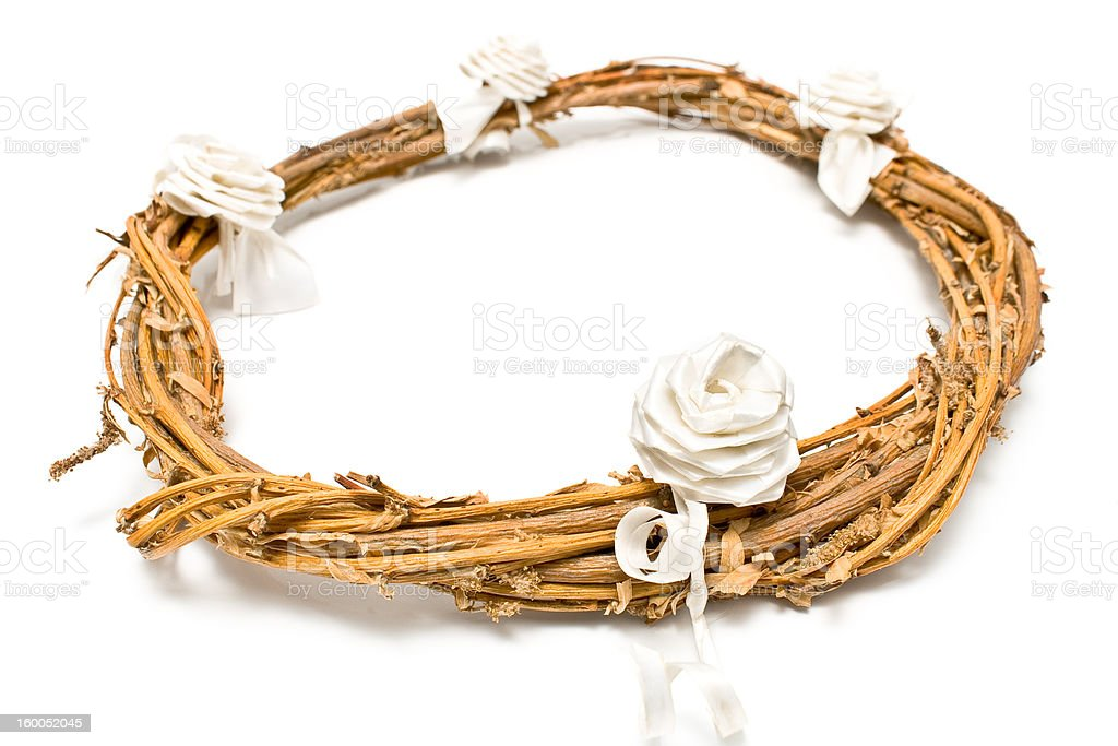 Willow dry branches wreath royalty-free stock photo