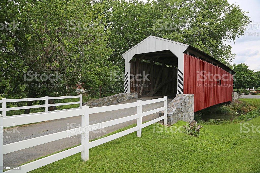 Willow Hill bridge stock photo