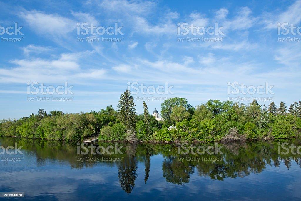 Willow Island Wascana Lake Regina stock photo